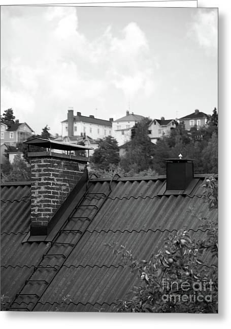 Roof Greeting Card by Tapio Koivula