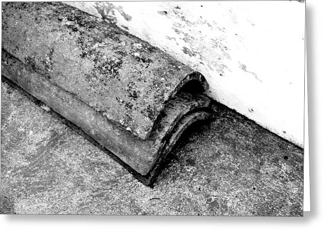Roof Tiles - Sao Miguel - Azores Greeting Card by Henry Krauzyk