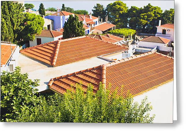 Roof Tops Greeting Card by Tom Gowanlock