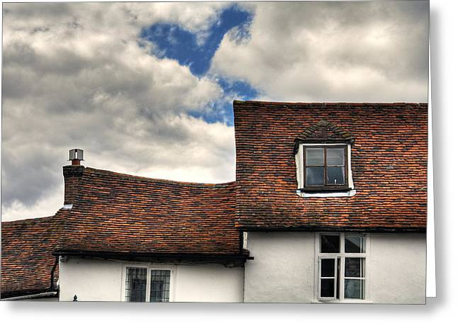 Roof Tops Greeting Card by Tom  Wray