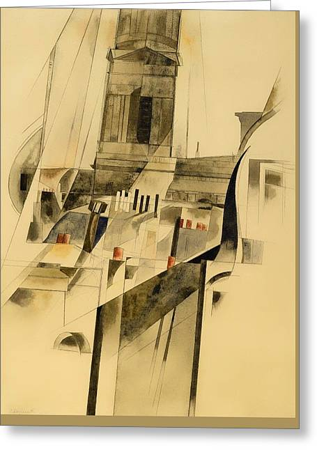 Roofs And Steeple Greeting Card by Mountain Dreams