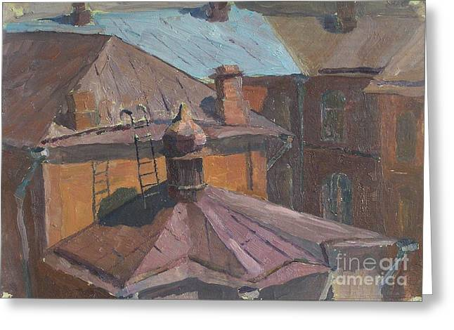 Roofs Greeting Card by Andrey Soldatenko