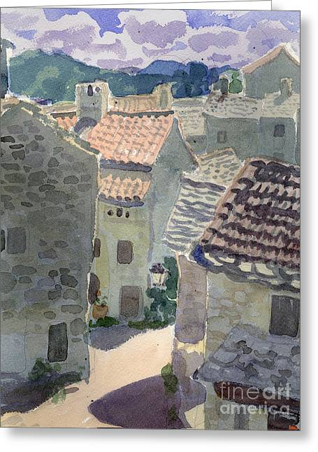 Roofs Of La Couvertoirade Greeting Card