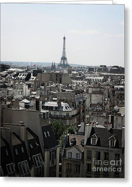 Roofs Of Paris. France Greeting Card by Bernard Jaubert