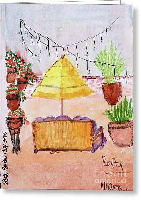 Rooftop At The Canary Greeting Card