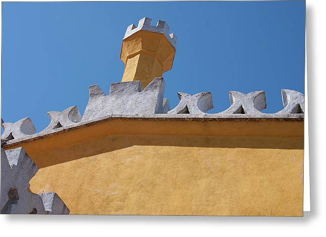 Rooftop Study Of Pena Palace -sintra, Portugal Greeting Card by Connie Sue White