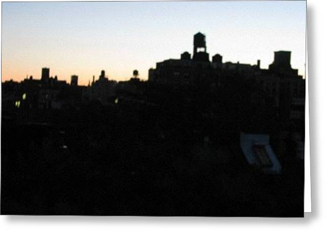 Rooftop Sunrise Greeting Card by Hasani Blue