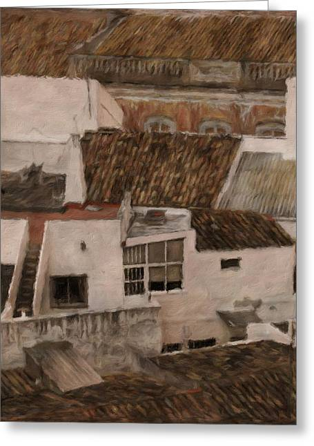 Rooftops By John Springfield Greeting Card