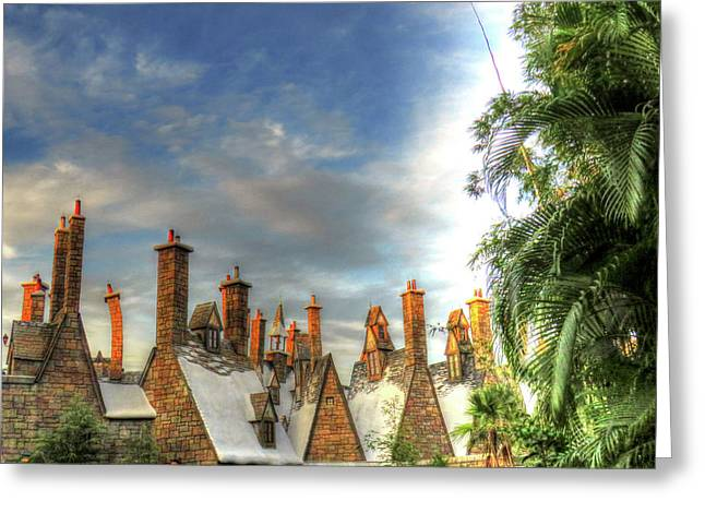 rooftops Hogsmeade Greeting Card