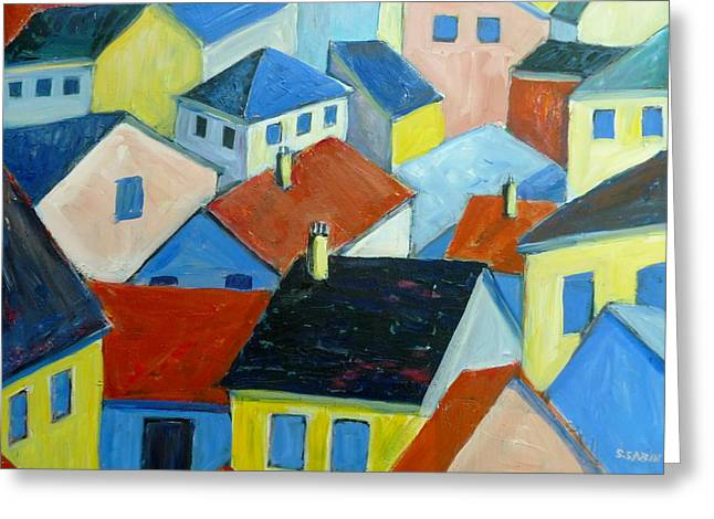 Rooftops In France Greeting Card by Saga Sabin