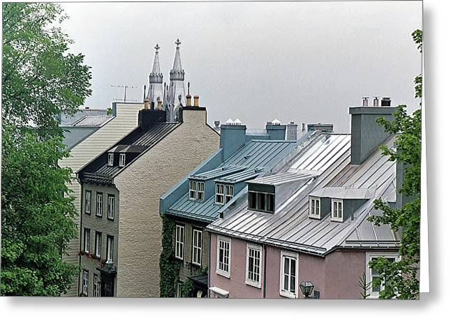 Greeting Card featuring the photograph Rooftops by John Schneider