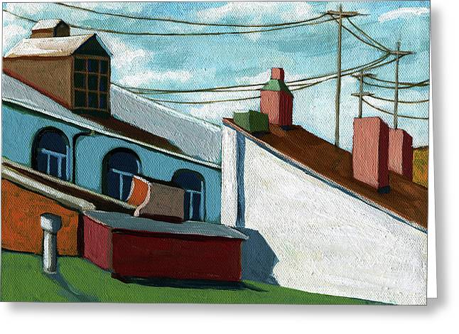 Rooftops Greeting Card by Linda Apple
