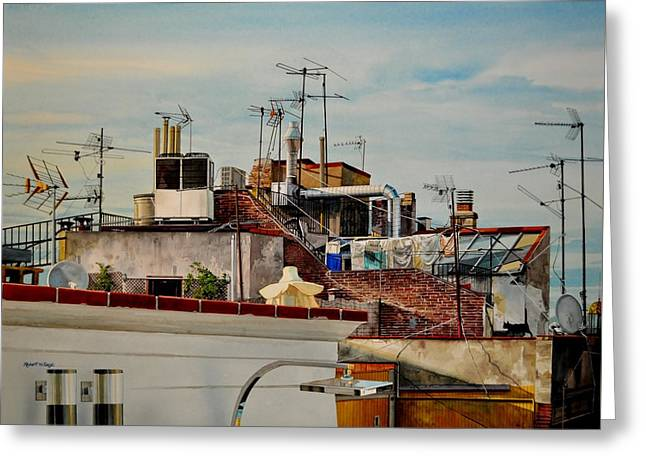Rooftops Of Barcelona Greeting Card