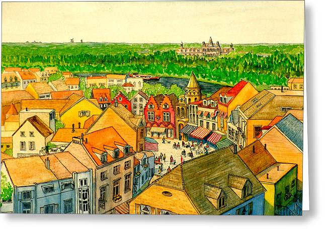 Rooftops Of Holland Greeting Card
