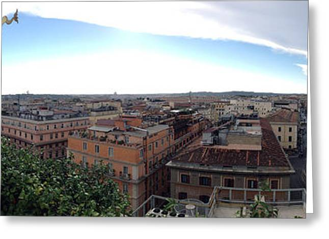 Rooftops Of Rome Greeting Card