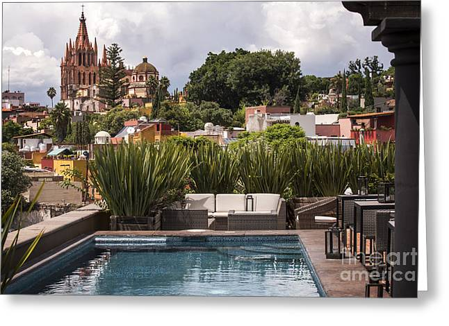 Rooftops Of San Miguel Mexico Greeting Card