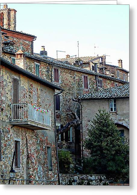 Rooftops View Panicale Greeting Card by Dorothy Berry-Lound