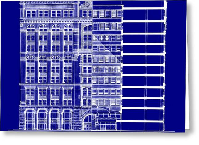 Rookery Building - Blueprint Greeting Card