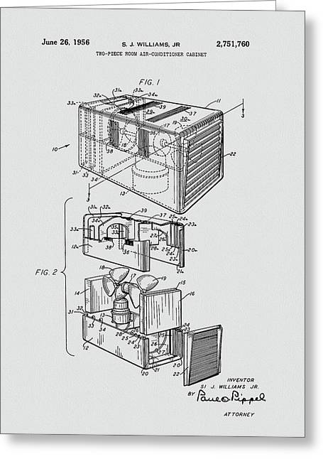 Room Air Conditioner Patent Greeting Card