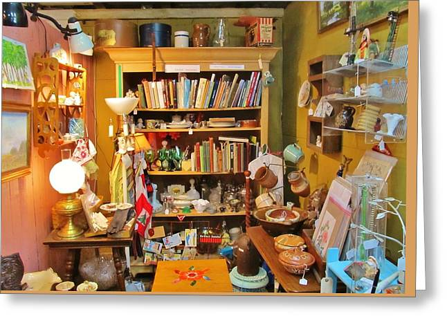 Room Of Antiques Greeting Card