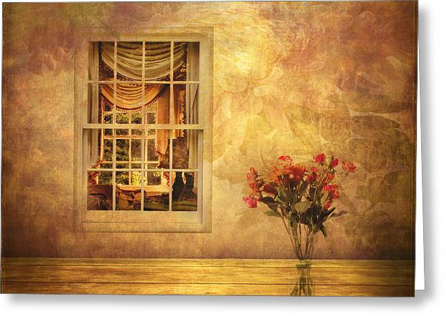 Room With A View Greeting Card by Jessica Jenney