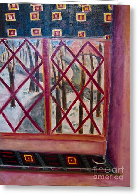 Room With A View Greeting Card by Karen Francis