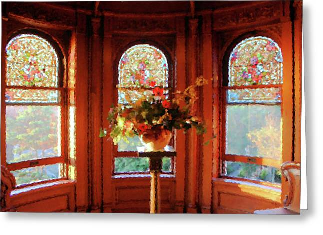Room With A View Greeting Card by Kristin Elmquist