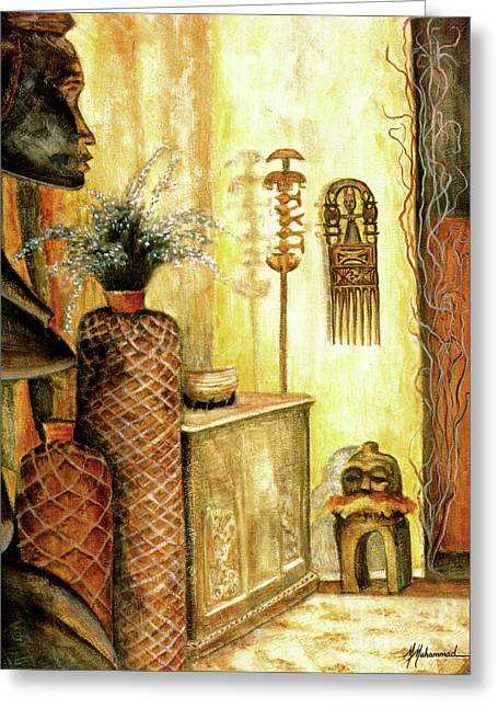 Room With A View Greeting Card by Marcella Muhammad