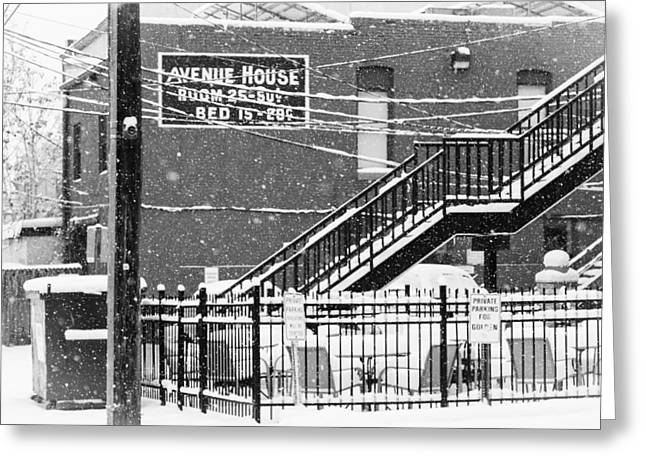 Rooms To Let  50cents Greeting Card by John Bartelt
