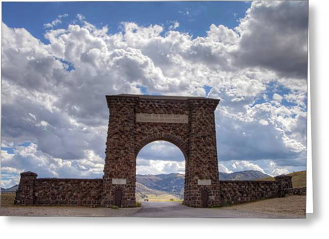 Roosevelt Arch Greeting Card