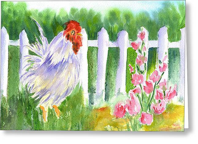 Rooster 05 Greeting Card by Ruth Bevan