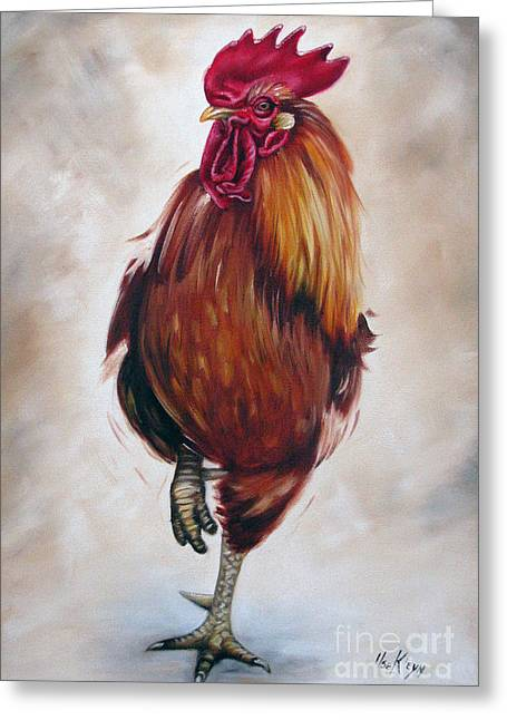 Rooster 17 Of 10 Greeting Card by Ilse Kleyn