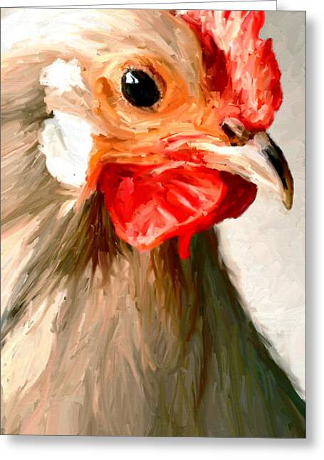 Greeting Card featuring the digital art Rooster 2 by James Shepherd