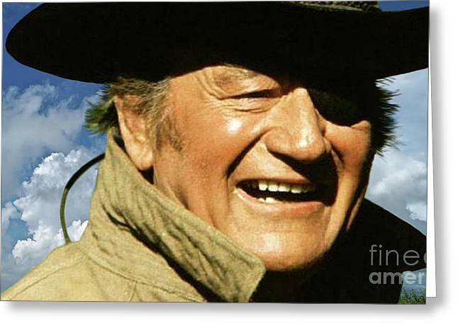 Rooster Cogburn, John Wayne, True Grit Greeting Card by Thomas Pollart