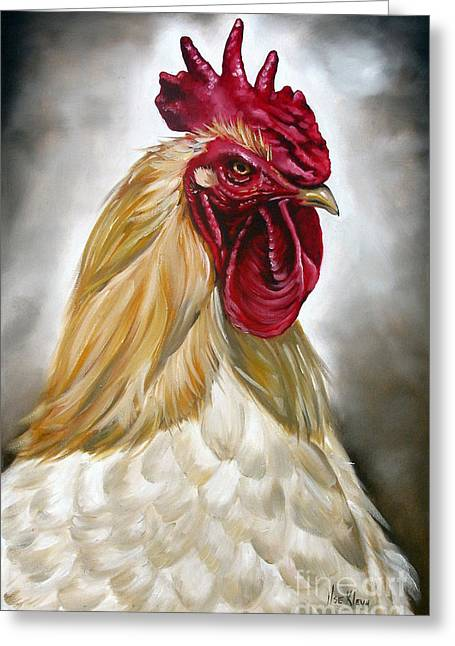 Rooster Head II Greeting Card by Ilse Kleyn