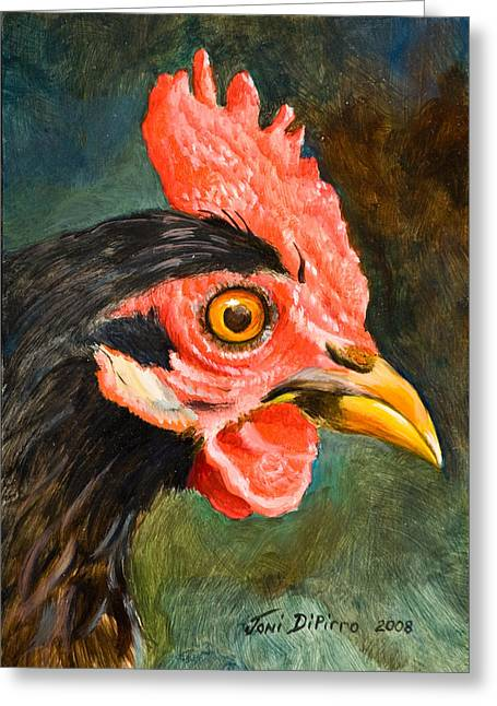 Rooster Greeting Card by Joni Dipirro