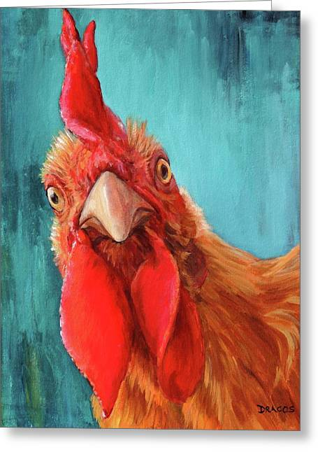 Rooster With Attitude Greeting Card