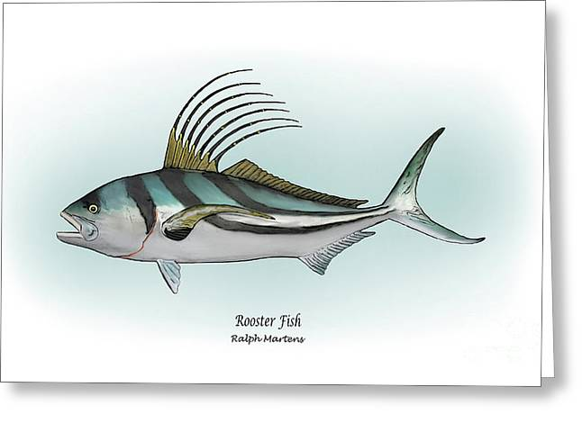 Roosterfish Greeting Card by Ralph Martens