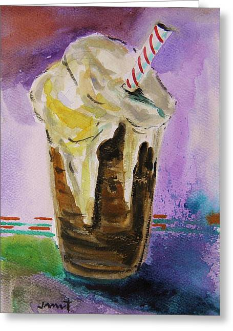 John M. Williams Drawings Greeting Cards - Root Beer Float Greeting Card by John  Williams