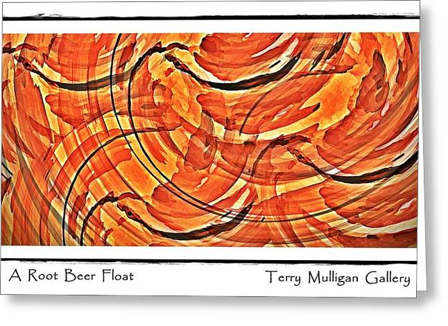 Root Beer Float Greeting Card by Terry Mulligan