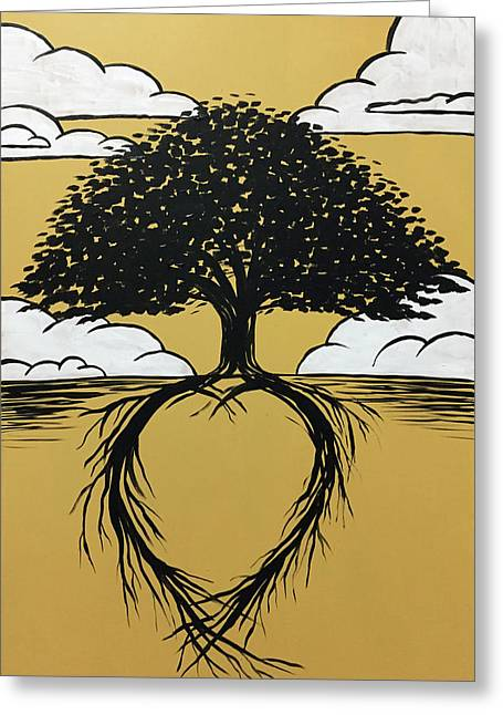 Rooted In Love Greeting Card by Nathan Rhoads