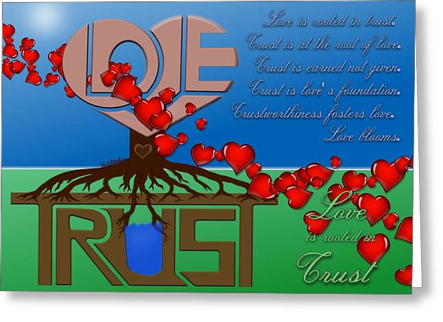 Rooted In Trust Greeting Card