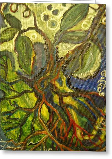 Roots And Tendrils Of Living Greeting Card