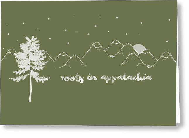 Greeting Card featuring the digital art Roots In Appalachia by Heather Applegate