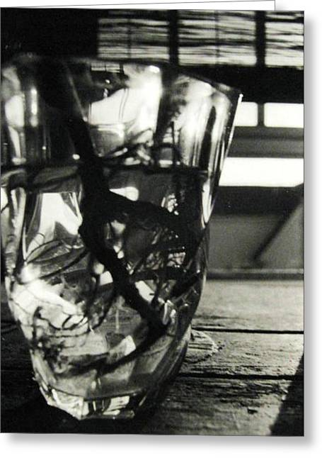 Glass Table Reflection Greeting Cards - Roots Greeting Card by Linnea Tober