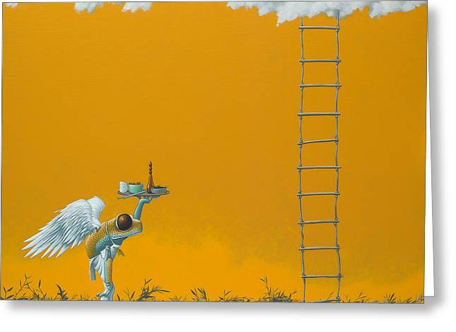 Rope Ladder Greeting Card by Jasper Oostland