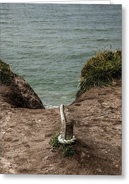 Greeting Card featuring the photograph Rope Ladder To The Sea by Odd Jeppesen