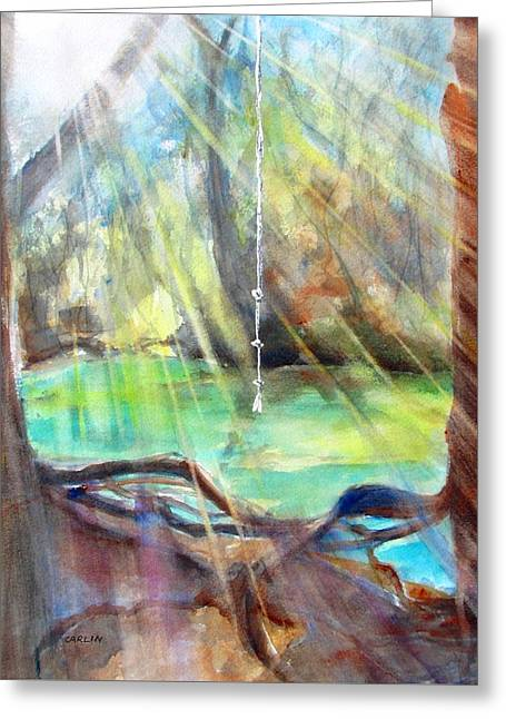 Rope Swing Greeting Card
