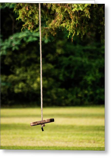 Greeting Card featuring the photograph Rope Swing  by Shelby Young