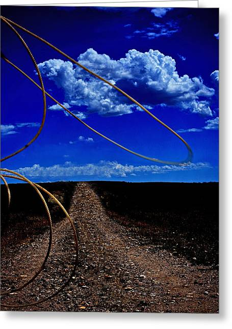 Rope The Road Ahead Greeting Card